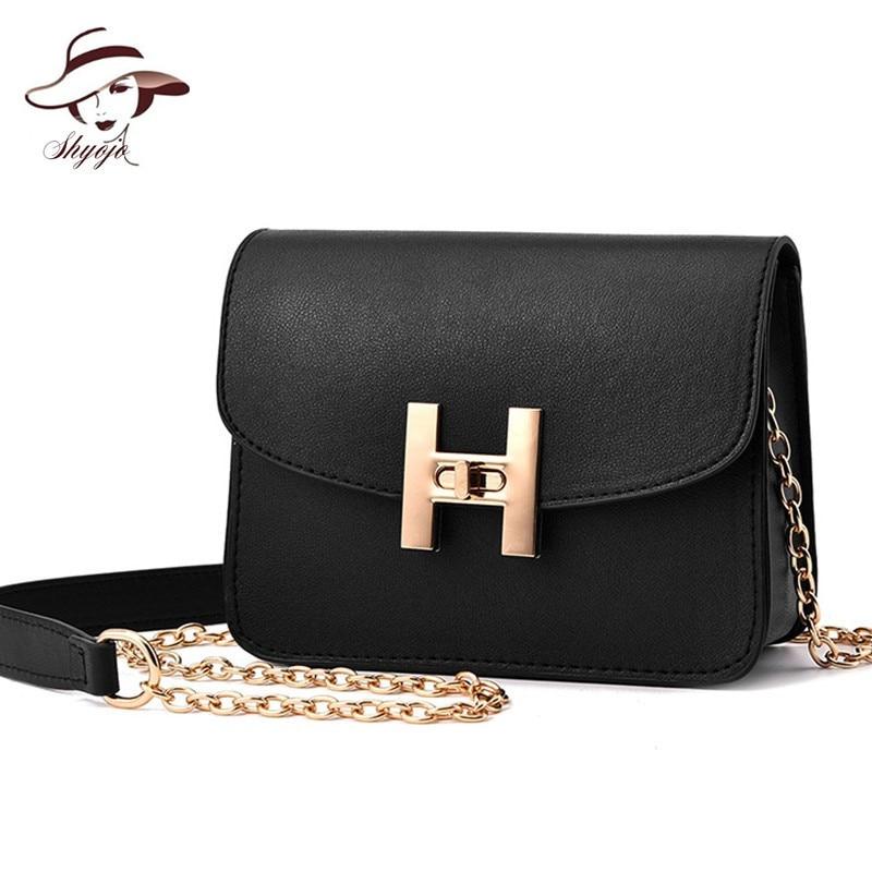 Mini Flap Solid Color Famous Brand Girls Women Messenger Shoulder Bags PU Leather Chain Handbags Vintage Small Bolsa Feminina