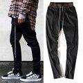 TEMOR de deus calças justin bieber calças yeezy kanye west homens hip hop zíper harem pants sweatpants corredores pantalon homme 5