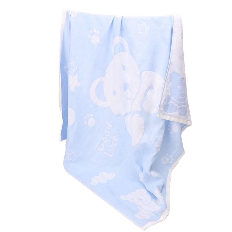 Baby Gauze Bath Towels 100%Cotton Kids Bathrobe Newborn Boys Girls Cute Cartoon Bear Towel , 105*105cm,Top Quality,Absorption