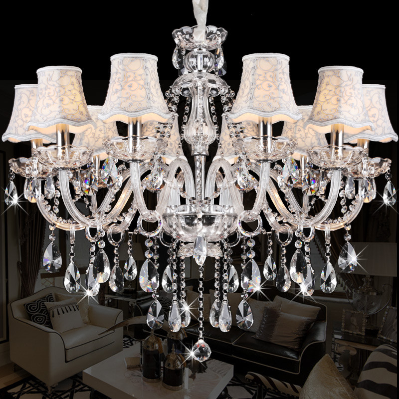 Modern Chandeliers lighting for dining room Bedroom Kitchen luminaire led lamparas de techo Modern crytal chandelier lustre de led chandeliers for dining room bedroom kitchen white color k9 crystal chandelier light for home decoration lustres para quarto