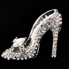 Crystal High Heel Brooch (9 Colors)