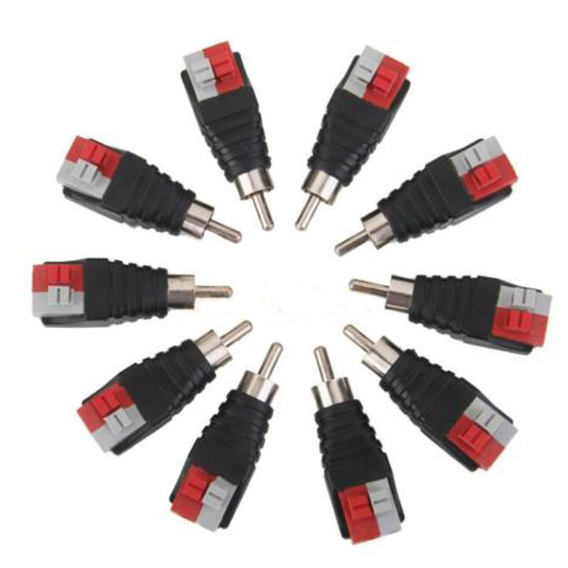 US $3.88 32% OFF|10 pcs Speaker Wire Cable to Audio MALE RCA Connector on