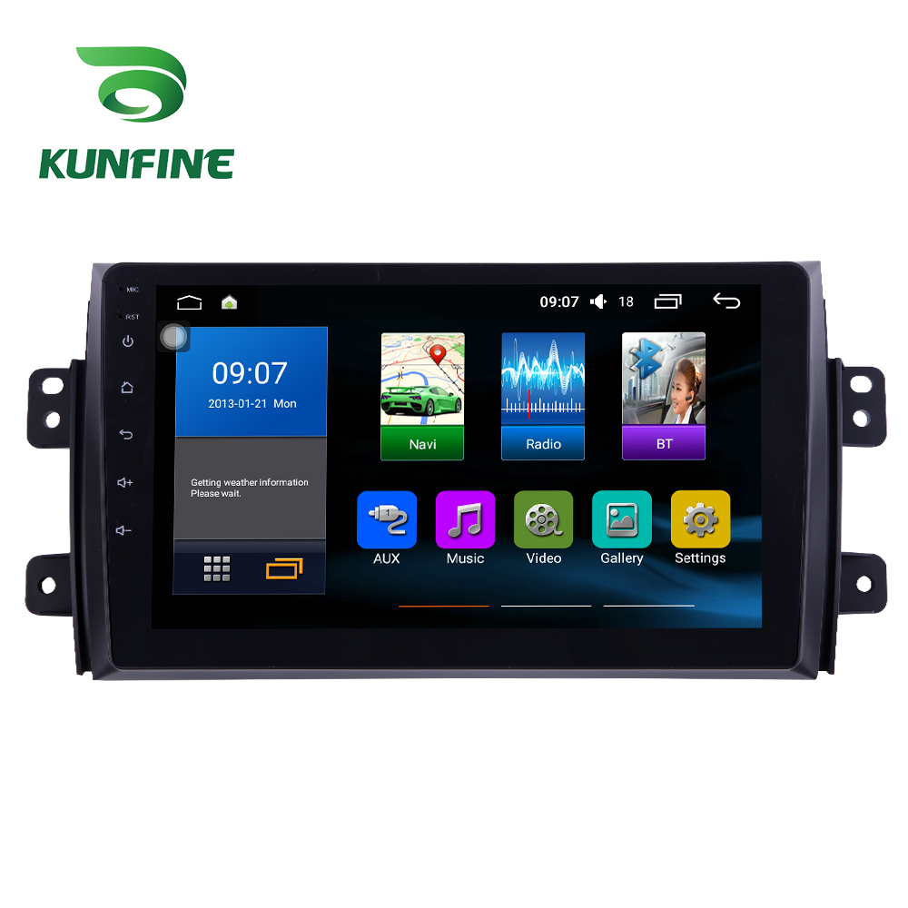 Octa Core 1024*600 Android 7.1 Car DVD GPS Navigation Player Deckless Car Stereo for Suzuki SX4 2006-2013 Headunit Radio funrover 9 2 din android 8 0 car dvd player for suzuki sx4 2006 2013 car radio gps navigation multimedia player quad core rds