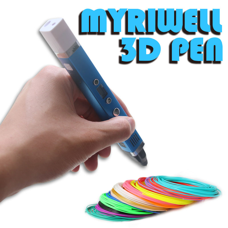 Myriwell Original Magic 3d printer pen Drawing 3D Pen with LED screen 3D impresora 3d pens for kids birthday present Useful gift myriwell brand new magic 3d printer pen drawing 3d pen with 3color abs filaments 3d printing 3d pens for kids birthday present