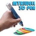 Myriwell original magia 3D impresora pluma dibujo 3D pluma con pantalla LED 3D impresora 3D plumas para niños cumpleaños regalo útil