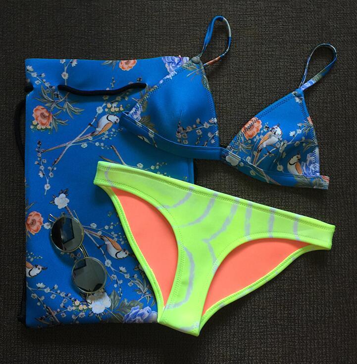 2018 87 23 color summer newest color handmade crochet bikini bandeau bow halter swimwear women Floral bottom swimsuit hot