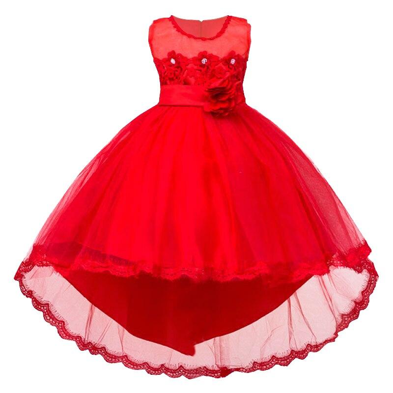 Vestido de partido de la muchacha vestido De niña de Navidad formal de 2017 del