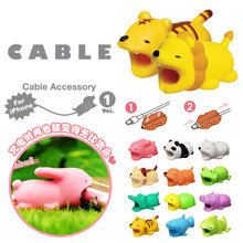 Cable bite Cute Animal cable protector for iphone usb cable organizer chompers charger wire holder for iphone cable dropshipping(China)
