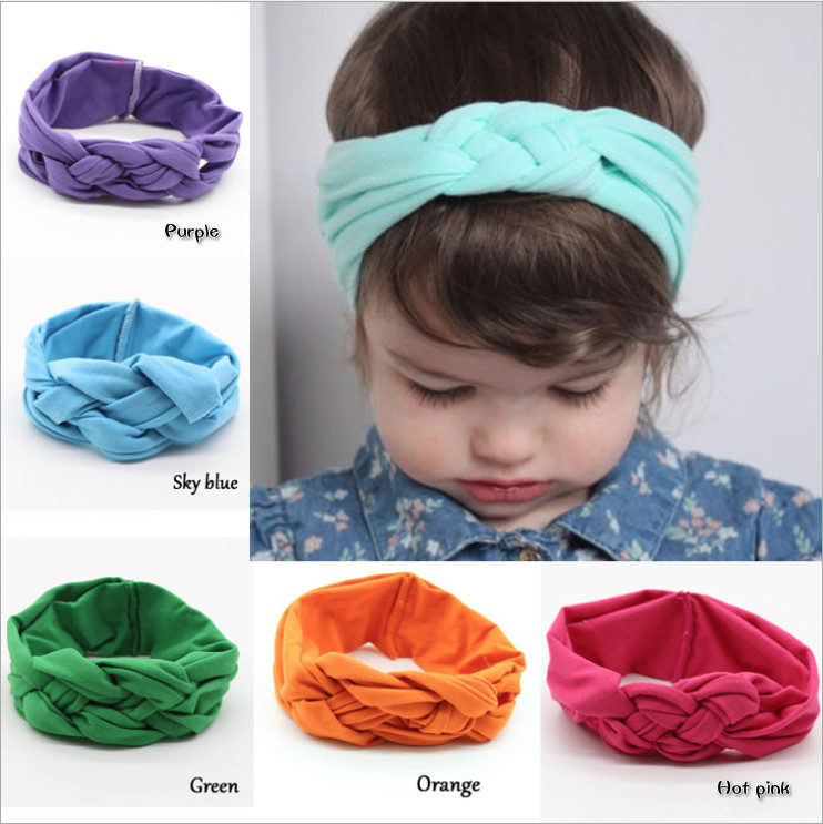 Hot 10 Colors Baby Girl Kids Cute Knots Headscarf Supreme Headband Toddler Headscarf Headbands Hair Band Accessories Photo Props