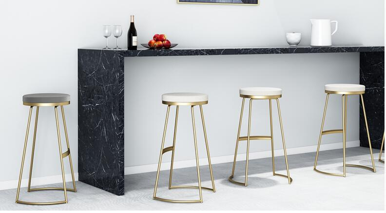 Nordic Iron Art Household Bar Chair Modern Simple Bar Chair High Stand Bar Chair Bar Chair Beauty Bench