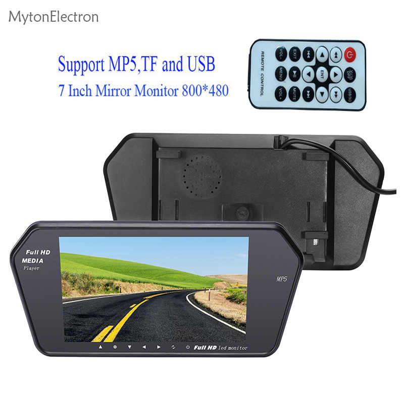 "800x480 7"" Color LED Car Rear view Mirror MP5 USB TF Monitor 7 inch 16:9 screen for car Camera VCR PAL/NTSC (car or truck)"