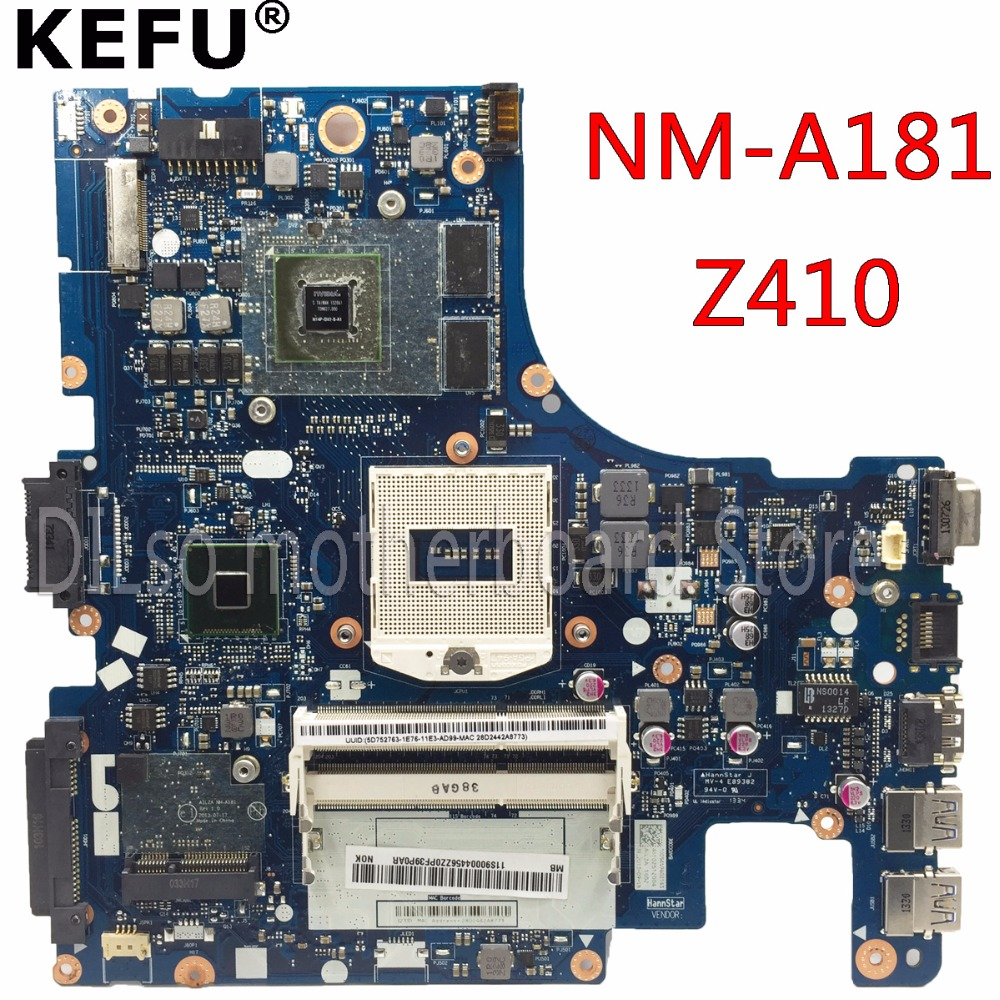KEFU NM-A181 Motherboard For Lenovo AILZA NM-A181 Z410 Laptop Motherboard Z410 Mainboard Rev2A    Free Shipping