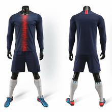 Adult childrens long-sleeved football jersey sports suit 100% polyester can be customized large size sportswear