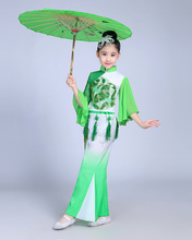 Chinese Traditional Folk Oriental Dance Costumes Girls Modern Yangko Classical Fan Stage Performance