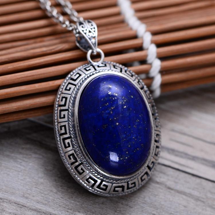925 sterling silver jewelry green Jin Shiyin edge sweater chain pendant
