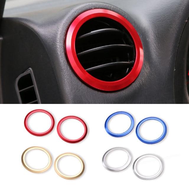 2pcs Aluminium Decoration Trim Air Conditioning Vent Cover Round Sticker Interior Accessories for Suzuki Jimny 07 08 09 UP