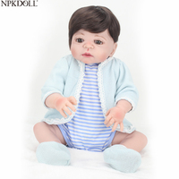 NPKDOLL Reborn Baby Dolls 55 см игрушки для малышей дешевая силиконовая кукла для всего тела горячая Распродажа модные детские игрушки Акция