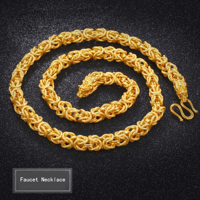 2018 new sand gold necklace faucet cloth necklace mens domineering chain wholesale