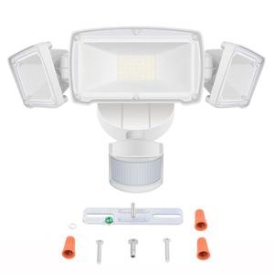 Image 1 - สามหัว LED ไฟ Motion Motion Motion Sensor แสงกลางแจ้ง 39W 230V Motion Sensor โคมไฟกันน้ำ
