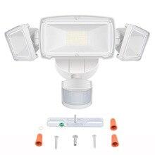 ثلاثة رئيس LED أضواء أمنية الحركة جهاز استشعار حركة للأماكن الخارجية ضوء في الهواء الطلق 39W 230V محس حركة حديقة مصباح مقاوم للماء