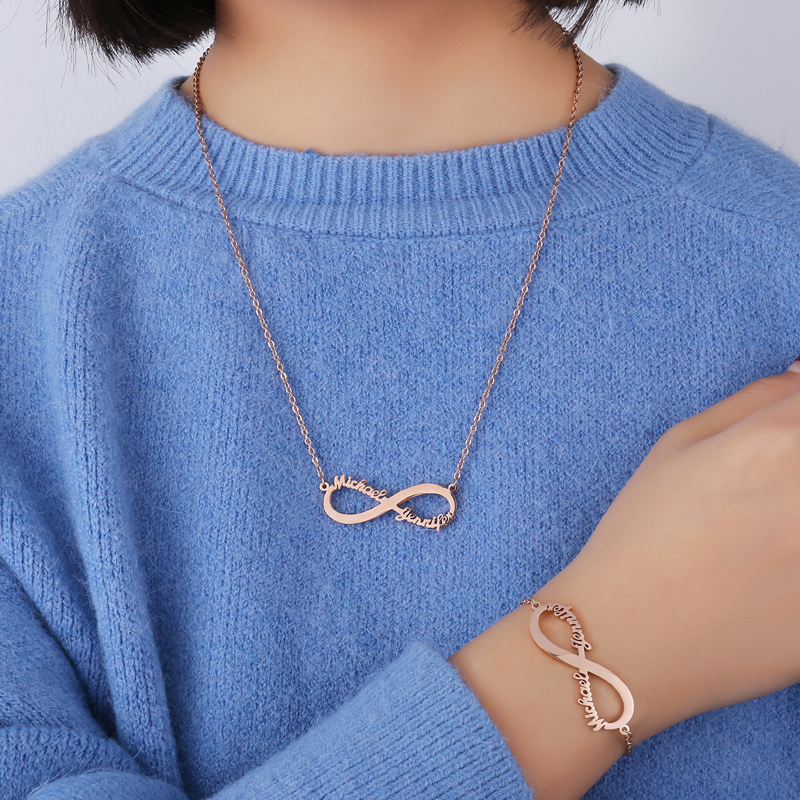 da3c77abb954 Atoztide personalizado de moda de acero inoxidable nombre Collar  personalizado carta oro gargantilla collar Colgante placa