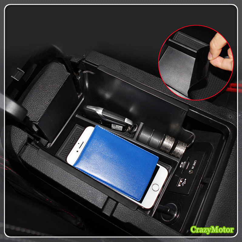 For Ford mustang 2015 2016 2017 Car organizer Interior Auto Central Armrest glove case Storage Box holder tray Car styling for mazda cx 5 cx5 2nd gen 2017 2018 interior custom car styling waterproof full set trunk cargo liner mats tray protector