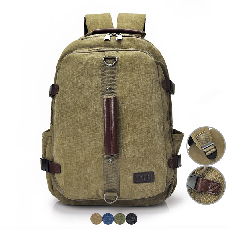 Vintage Men Canvas Backpack Male Casual Travel Back Pack School Bag for Boy Bagpack Retro Women Shoulder Bag Laptop Bag Rucksack