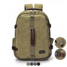 33f684543846 Винтаж Для мужчин холст рюкзак мужской Повседневное путешествия Back Pack  школьная сумка для мальчика Bagpack Ретро