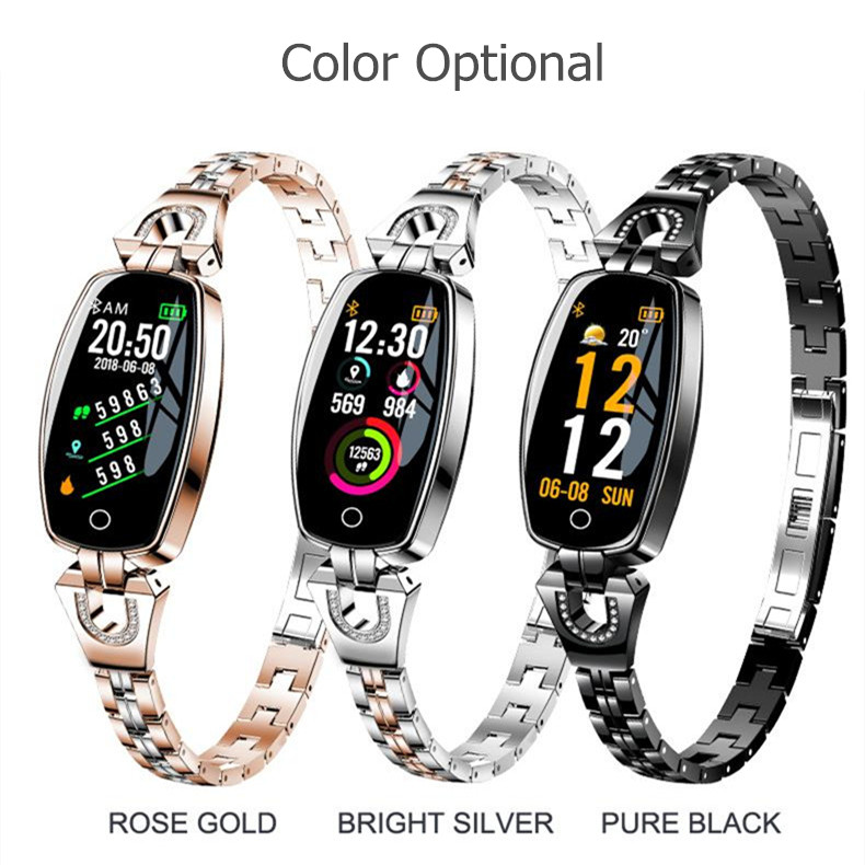 Image 2 - ASKMEER H8 Women Smart Watch Fitness Bracelet Sport Waterproof Heart Rate Monitor Bluetooth For IOS Android Smartwatch Girl Gift-in Smart Watches from Consumer Electronics