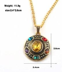 Avengers Endgame Thanos Infinity Stones Necklace Metal Pendant Chain Cosplay Jewelry