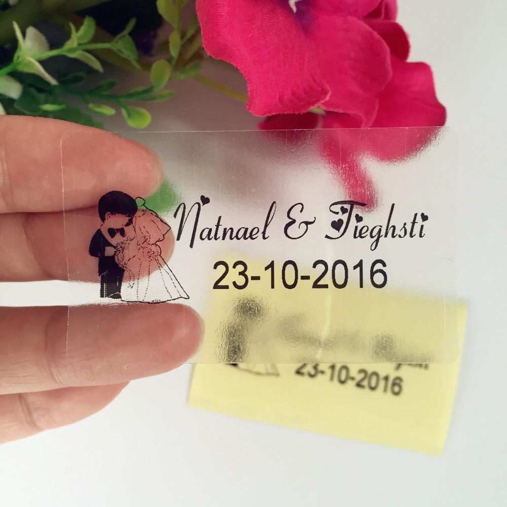 1 5 2 Inches Custom Rectangle Labels Personalized Sticker Wedding Favor Mini Bubble Nugget Wrer Address Label