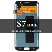 100% протестированный ЖК дисплей для s7 edge с сенсорным экраном