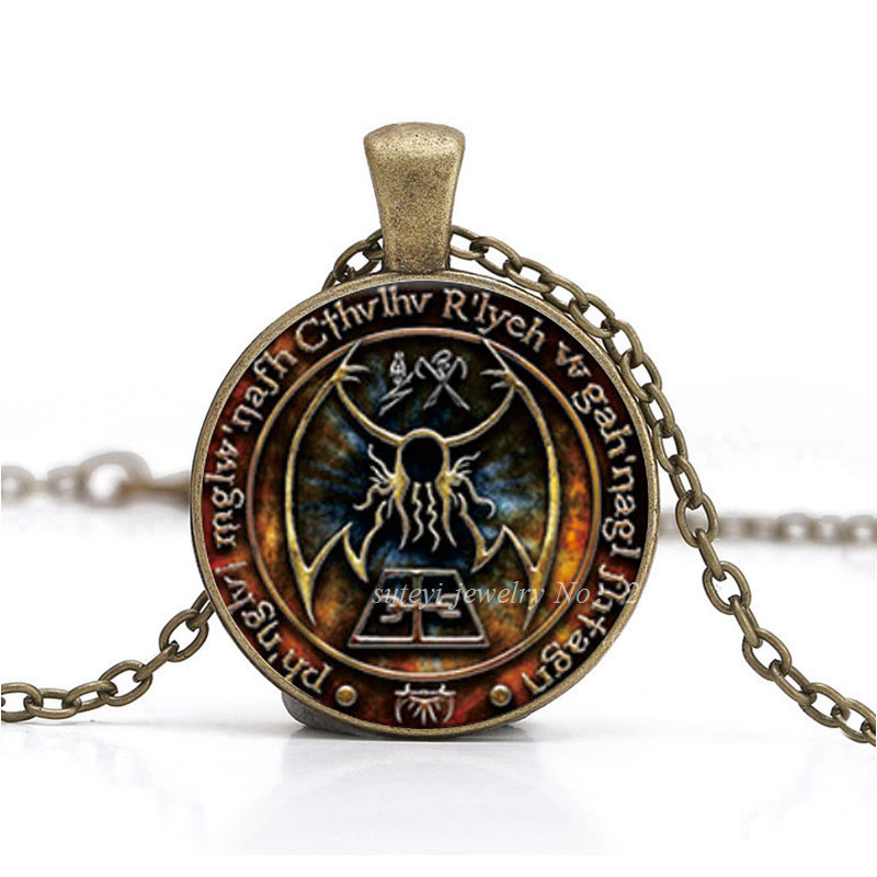 Imprint Pendant Inspired By Lovecraft Pendant Necklace Glass Photo Cabochon Necklace