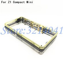 New Middle Frame Bezel Plate Metal Housing Cover + Dust Plug For Sony Xperia Z1 Compact mini D5503 +Power Volume Button