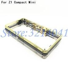 New Mittleren Rahmen Lünette Platte Metall Gehäuse Abdeckung + Staub Stecker Für Sony Xperia Z1 Kompakte mini D5503 + Power volumen Taste