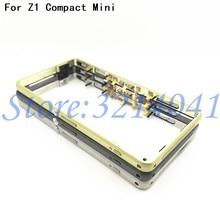 Nouveau cadre moyen lunette plaque boîtier métallique couvercle + prise anti poussière pour Sony Xperia Z1 Compact mini D5503 + bouton de Volume dalimentation