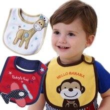 Baby Girl Boy Waterproof Bibs Cartoon Carter Saliva Towel Baby Toddler Dinner Feeding Bibs Cotton Baberos Bandanas Burp Cloths
