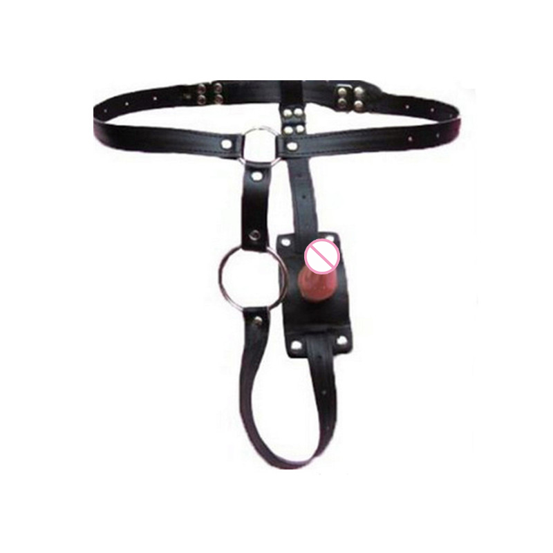 Butt plug harness with cock restraint