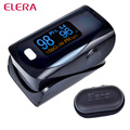 ELERA CE FDA Black Digital Finger Pulse Oximeter Blood Oxygen SpO2 Saturation PR PI Oximetro Monitor oximetro de dedo+Case