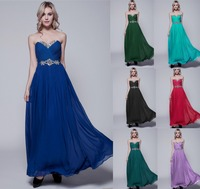 0065 Royal Blue Sexy Chiffon Plus Size Formal Gown Evening Dresses Fashional Design