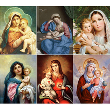 Full 5D Diy Daimond Painting Mary&little Jesus 3D Diamond Painting Round Rhinestones Diamant Painting Embroidery Religion icon wade mary hazelton blanchard our little cuban cousin
