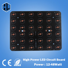 free shipping 12W 18W 20W 24W 30W 36W 48W Rectangle LED Aluminum Plate / High Power LED Circuit Board / Heat Plate PCB(China)