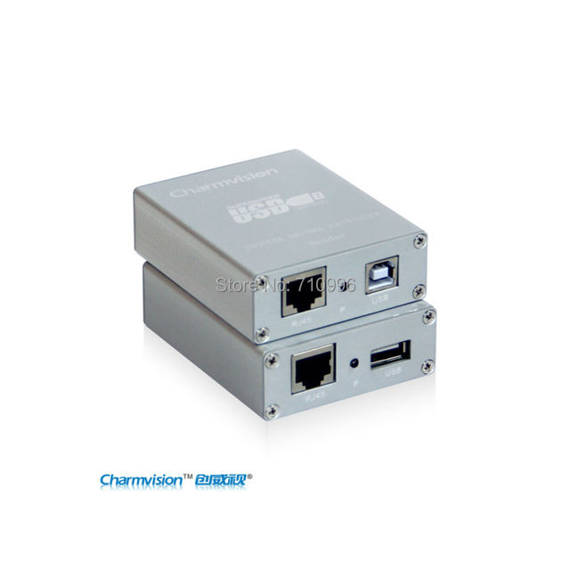 Charmvision EU151P 150m UTP STP cat5/cat5e/cat6 cable USB Extender with power adopter connect device extender compatible USB2.0