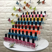 Mordoa Fashion Detachable 7 Tier Organizer Lipstick Display Stand Holder Nail Polish Rack Makeup Cosmetic Display