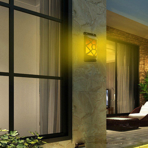 led ambar patio porch lampada de parede