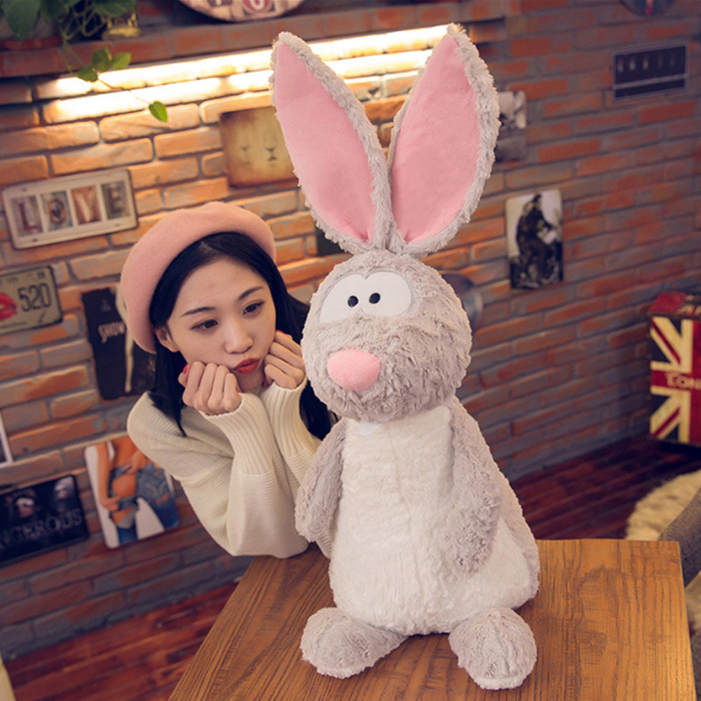 Fancytrader Cute Plush Long Ears Bunny Toys Fluffy Soft Stuffed Animals Rabbit Pillow Doll 80cm 31inch for Children Present cute 45cm stuffed soft plush penguin toys stuffed animals doll soft sleep pillow cushion for gift birthady party gift baby toy