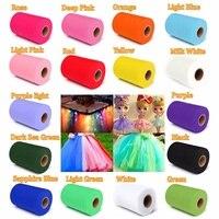 Fashion DIY 6 X 100YD Pure Color Tulle Roll Spool Tutu Dress Fabric Craft Wrap Decor
