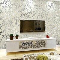 High End 10M Popular Wallpaper Victorian Design Luxury Embossed Pattern Textured Wallpaper Rolls Silver Gold 4