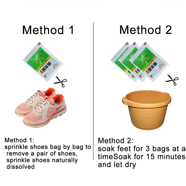10Bags Anti Fungus Sweat Itch Odor Removing Foot Powder Effectively Moisturizing Feet Care 5