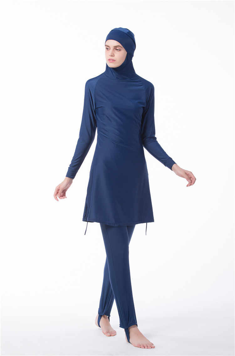 Phụ nữ Ả Rập Hồi Giáo Hồi Giáo Swimwear 2 Pieces Tops Và Quần Đặt Hijab Áo Tắm Hui Quốc Tịch Đồ Bơi Burkinis Cộng Với Kích Thước 4XL